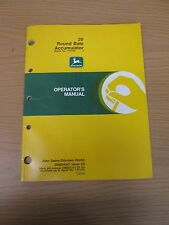 JOHN DEERE 20 ROUND BALE ACCUMULATOR OPERATORS MANUAL-PART NO. OME94347