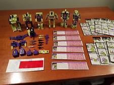 Hasbro Transformers G1 Lot - All Six Constructicons/Devastator complete