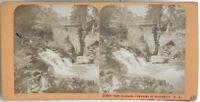 Pont Spagna Francia Foto J.Andrieu Stereo Vintage Albumina c1868