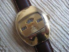 Sicura jump hour manual wind Gold plate watch