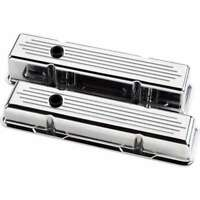 Billet Specialties 95120 Valve Cover CHEVY SBC Short BALLED milled Polished