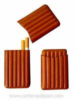 Pitillera de bolsillo para 6 cigarrillos en piel de Ubrique