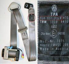 VW BORA SEAT BELT PASSENGERS SIDE FRONT BEIGE GRAY DOOR 1J4 857 705 K