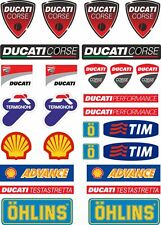 Ducati Motorcycle Decals Stickers Bike Factory Graphic Set Vinyl Logo 27 Pcs