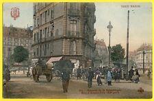 cpa 75 - PARIS Avenue de la République Rue d'Angoulème Animés Attelage Papeterie