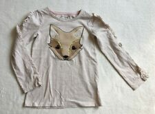 ***Cynthia Rowley girls Fox long sleeve top t shirt 6-7 years VGC***