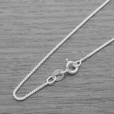 Genuine 925 Sterling Silver 0.9mm Box Chain Necklace