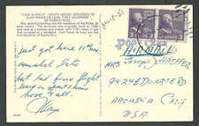 1951 PC 3c Horizontal Coils X 2 = 6c Airmail Rate From Puerto Rico Scarce Usage