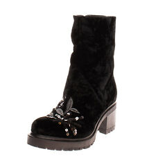 RRP€250 ALEXANDER HOTTO Velour Ankle Boots EU 36 UK 3 US 6 Sequins Made in Italy