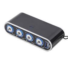 USB Port 4Way Plug Car Cigarette Lighter Socket Splitter 12V/24V Charger Adapter