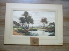 """Antique """"Evening in Anvergne"""" FRENCH SIGNED FRANCIS ROTH Original Etching SZL"""
