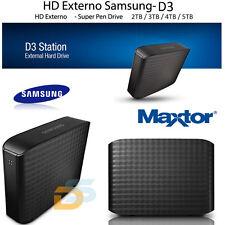 "HARD DISK ESTERNO 3,5"" 2TB 3TB 4TB 5TB SAMSUNG-MAXTOR USB 3.0 D3 STATION WINDOWS"