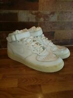 Nike Air Force 1 Trainers - size 11 UK - White