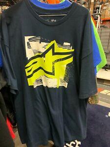 New Men's Alpinestars Engineering T-Shirt ~ Navy ~ XL~ 3030-5881