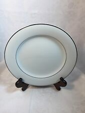 Noritake China Envoy Pattern Salad Plate Retired White W/ Platinum Band