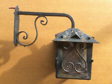 Vintage Victorian Style Hanging Coach Lantern Outdoor Black Cast Iron Wall Light