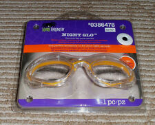 Yellow Light Up-Night Glo Frames/Glasses! 2 Light effects + Belt Clip Included.