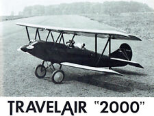 "Model Airplane Plans (RC): Travel Air 2000 1/6 Scale 58"" Biplane for.40 Engines"