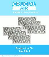 6 Replacement MERV 11 Allergen Air Furnace Filters 16x25x1