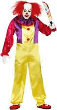 Adult Mens Killer Clown TV Film Horror Halloween Fancy Dress Costume Outfit L