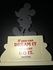 Walt Disney Mickey Mouse Hallmark If You Can Dream It You Can Do It Statue New