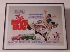 "11 X 17 Framed Movie Print : ""THE LOVE BUG"" HERBIE'S DASHING DEBUT WALT DISNEY"