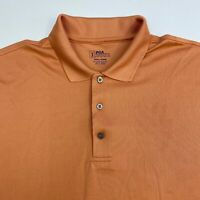 PGA Tour Golf Polo Shirt Men's Size 2XL XXL Short Sleeve Orange 100% Polyester