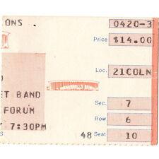 BOB SEGER And THE SILVER BULLET BAND Concert Ticket Stub  FORUM 4/20/83 LA CA