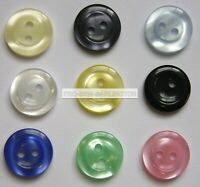 2 Tone Shade Round Buttons ( Choice of size & Colours ) 18s 24s 28s 32s