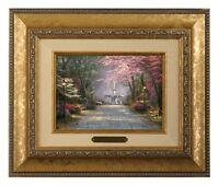 Thomas Kinkade Savannah Romance 5 x 7 Framed Brushwork (Gold Frame)