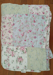 """Simply Shabby Chic Patchwork DITSY Floral Ruffled Twin Size Quilt 63"""" x 86"""""""