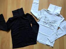 Lot de 2 sous-pulls motif pailleté fille 8 ANS noir + blanc