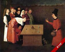 EUROPEAN CON CONFIDENCE MAN MAGIC TRICK SCAM SHOW PAINTING ART REAL CANVAS PRINT