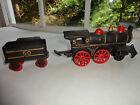Cast Iron Steam Locomotive Train Engine # 50 Tender # 50 Reproduction