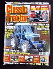 Classic Tractor, February 2011, Farm Finds, Muirhill, Leyland, Ford & IH