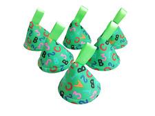 Pee Pee Wee WIGWAM TEEPEE x6, cono de parada, Verde ABC/123, Niño Bebé Ducha Regalo