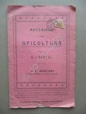 Materiale per Apicoltura A.I. Root e Co. Marconi Catalogo Industriale 1910 Api
