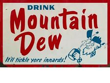 "TIN SIGN ""Mountain Dew Old Man"" Beverages Signs Garage Wall Decor"