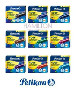 PELIKAN 4001 Ink Cartridges - International Standard Cartridges in 9 Colours