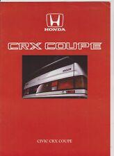 HONDA CIVIC CRX COUPE brochure - 1986