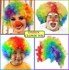 AFRO Colourful WIG Unisex Curly Hair Circus Clown Carnival Comedy Costume Party