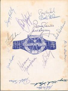 LARRY CSONKA Rookie JACK DEMPSEY CARL YASTRZEMSKI+14 Vintage Signed 1968 Program