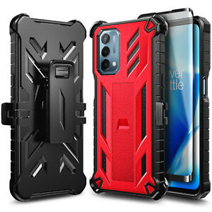 Case For OnePlus Nord N200 5G Belt Clip Holster Kickstand Cover + Tempered Glass