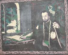 Vintage man portrait canvas print