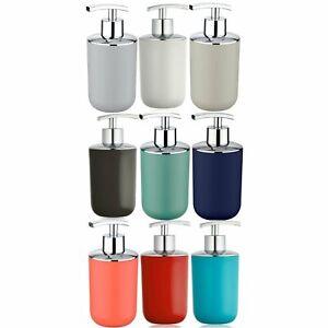 Wenko Brasil Plastic Soap Dispensers Black White Blue Grey Coral Taupe Green