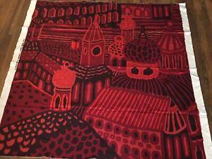 Mid Century Modern Vtg Fabric   Kumiseva Art by Katsuji Wakisaka Marimekko 1970s