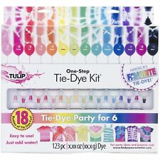 Tie Dye Kit Tulip Set Paint 18 Color Fabric Shirt Material Ink One Step Clothing
