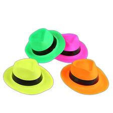 Neon Gangster Party Hats Fancy Dress Bright Hats Bulk Buy