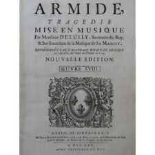LULLY Jean-Baptiste Armide Opéra Orchestre 1725 partition sheet music score