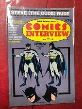 Comics Interview 78. Steve Rude. Lots Of Batman Artists